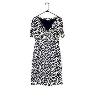 Max Mara Jersey 1/2 Sleeve Polka Dot Dress 4 40 S